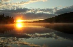 Salida del sol colorida Imagen de archivo