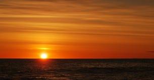 Salida del sol colorida Imagen de archivo libre de regalías