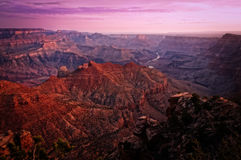 Salida del sol colorida de la barranca magnífica Fotos de archivo libres de regalías