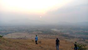 Salida del sol con la aureola de la mañana Fotografía de archivo libre de regalías