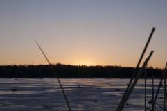 Salida del sol congelada Fotos de archivo libres de regalías