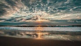 Salida del sol, costa atlántica Imagen de archivo libre de regalías
