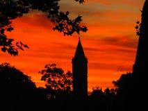 Salida del sol crepuscular de fascinación Foto de archivo