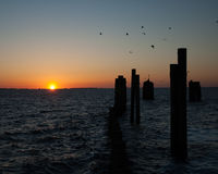 Salida del sol Currituck Foto de archivo libre de regalías