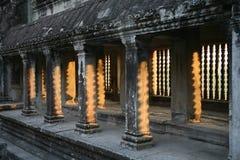 Salida del sol de Angkor Wat, Camboya Fotos de archivo libres de regalías