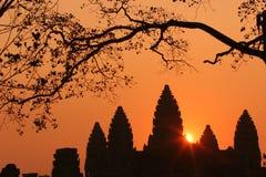 Salida del sol de Ankor Wat Foto de archivo