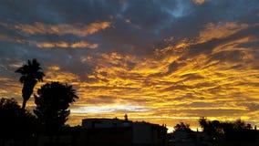 Salida del sol de Arizona Fotos de archivo