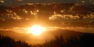 Salida del sol de Arizona septiembre Imagen de archivo libre de regalías