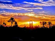 Salida del sol de Arizona fotos de archivo libres de regalías