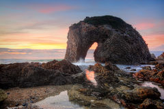 Salida del sol de Australia de la roca de la cabeza de caballo Imagen de archivo