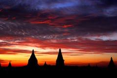 Salida del sol de Bagan Imagen de archivo libre de regalías