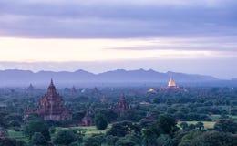 Salida del sol de Bagan, Myanmar Imagen de archivo libre de regalías