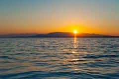 Salida del sol de Baikal Foto de archivo libre de regalías