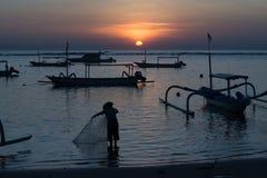 Salida del sol de Bali Imagen de archivo libre de regalías