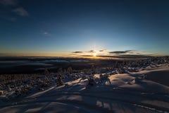 Salida del sol de Bezbog fotografía de archivo
