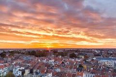 Salida del sol de Bruselas Imagen de archivo
