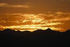 Salida del sol de California meridional Fotos de archivo libres de regalías