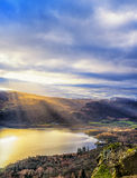 Salida del sol de Catbells - distrito del lago Imagenes de archivo