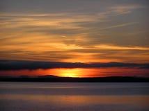 Salida del sol de Champlain del lago Foto de archivo libre de regalías