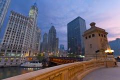 Salida del sol de Chicago. foto de archivo