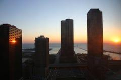 Salida del sol de Chicago fotos de archivo libres de regalías