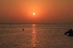 Salida del sol de cobre foto de archivo