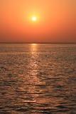 Salida del sol de cobre Fotos de archivo libres de regalías