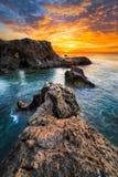 Salida del sol de Costa Almeria imagen de archivo