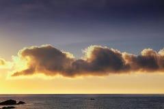 Salida del sol de Costa Brava Imagen de archivo