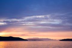 Salida del sol de Croacia Fotografía de archivo libre de regalías