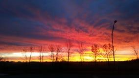 Salida del sol de Dakota del Norte Fotografía de archivo