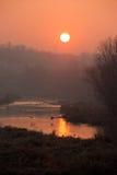 Salida del sol de Danubio Imagen de archivo