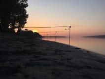 Salida del sol de Danubio Fotos de archivo libres de regalías