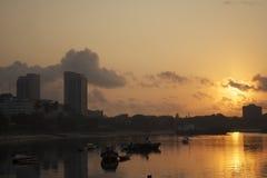 Salida del sol de Dar es Salaam Foto de archivo libre de regalías
