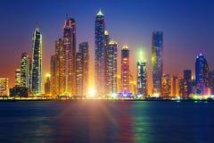 Salida del sol de Dubai Fotografía de archivo libre de regalías