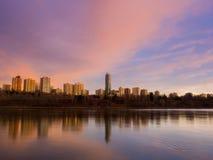 Salida del sol de Edmonton Fotografía de archivo libre de regalías