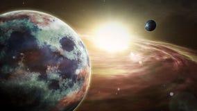 Salida del sol de Exoplanet y exploración del cosmos libre illustration