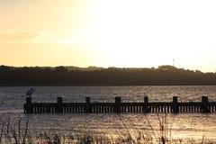 Salida del sol de Goolwa Foto de archivo libre de regalías