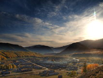 Salida del sol de Hemu Fotos de archivo libres de regalías