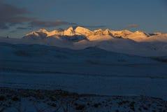 Salida del sol de Himalaya Foto de archivo libre de regalías