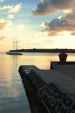 Salida del sol de Isla Mauricio imagenes de archivo