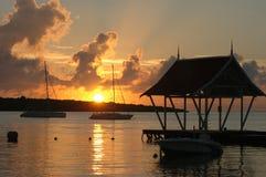 Salida del sol de Isla Mauricio fotografía de archivo