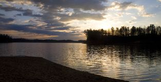 Salida del sol de James del lago Fotografía de archivo libre de regalías