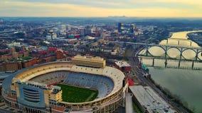 Salida del sol de Knoxville Stadium Fotografía de archivo libre de regalías