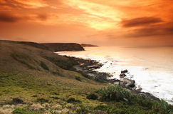 Salida del sol de la bahía de Morgans fotografía de archivo
