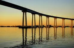 Salida del sol de la bahía de San Diego Imagen de archivo libre de regalías