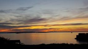 Salida del sol de la bahía del roble Foto de archivo