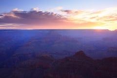 Salida del sol de la barranca magnífica fotografía de archivo libre de regalías