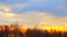 Salida del sol de la caída Fotografía de archivo