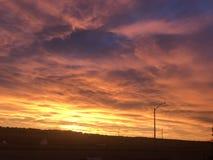 Salida del sol de la caída/del otoño fotografía de archivo libre de regalías